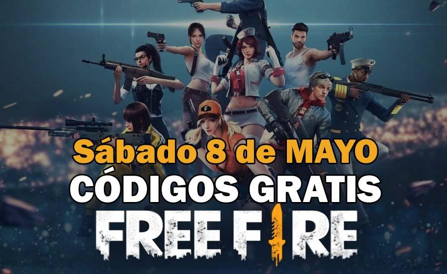 Códigos Free Fire de hoy 8 de mayo de 2021