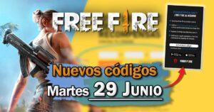 Códigos Free Fire de hoy 29 de junio de 2021