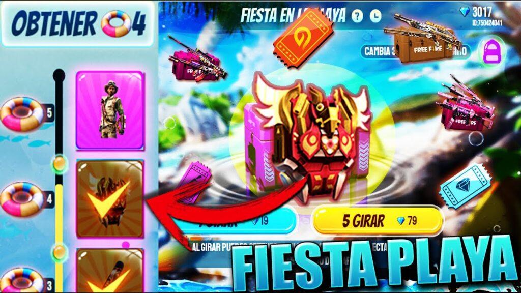 Evento Fiesta de Playa de free fire